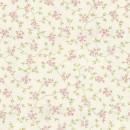 Органза с принтом мелкий цветочек розовая 280 см