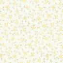 Органза с принтом мелкий цветочек жёлтая 280 см