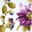 Органза с травлением фиолетовые цветы 300 см
