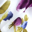 Органза с травлением фиолетовые цветы в складке 300 см