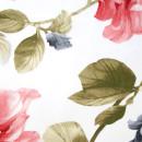 Органза с травлением красные цветы 300 см
