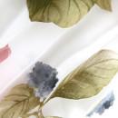 Органза с травлением красные цветы в складке 300 см