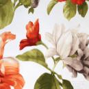 Органза с травлением оранжевые цветы 300 см