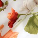 Органза с травлением оранжевые цветы в складке 300 см