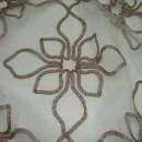 Органза с вышивкой цветы бежевая 280 см