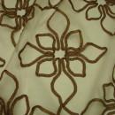 Органза с вышивкой цветы коричневая 280 см