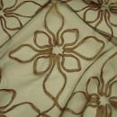 Органза с вышивкой цветы песочная 280 см