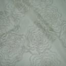 Органза с вышивкой розы серая 280 см