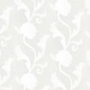 Органза жаккардовая молочная цветы 290 см
