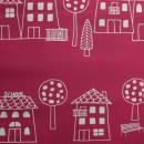 Сатин розовый с контурным рисунком 280 см