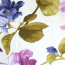 Сатин с принтом фиолетовые цветы 280 см