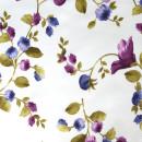Сатин с принтом мелкие фиолетовые цветы 280 см