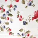 Сатин с принтом мелкие красные цветы 280 см