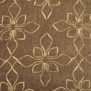 Шенил с вышивкой цветы коричневый 280 см