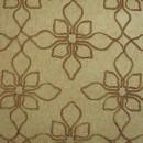 Шенил с вышивкой цветы песочный 280 см