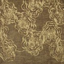 Шенил с вышивкой розы коричневый 280 см