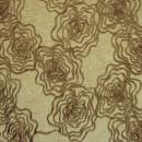 Шенил с вышивкой розы песочный 280 см