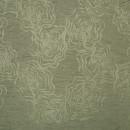 Шенил с вышивкой розы серый 280 см