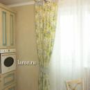 Шторы для кухни в стиле прованс из хлопковой ткани с цветочным принтом