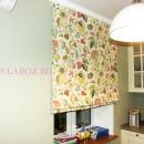 Шторы из хлопка с цветочным принтом для кухни-студии