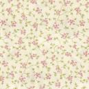 Велюр с принтом мелкий цветочек розовый 140 см