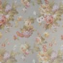Вуаль с цветочным принтом серая 280 см