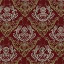 Жаккард дамаск красный 140 см