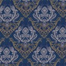 Жаккард дамаск синий 140 см
