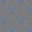 Жаккард дамаск тёмно голубой 140 см