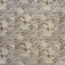 Жаккард пастораль коричневый 140 см