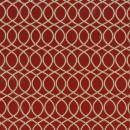 Жаккард решетка красный 140 см