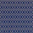 Жаккард решетка синий 140 см