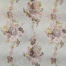 Жаккард вензель с принтом розовые цветы 280 см