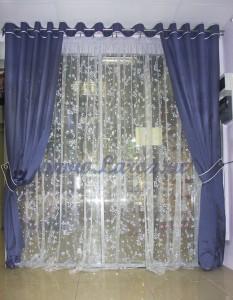 Готовый комплект декоративных штор 1